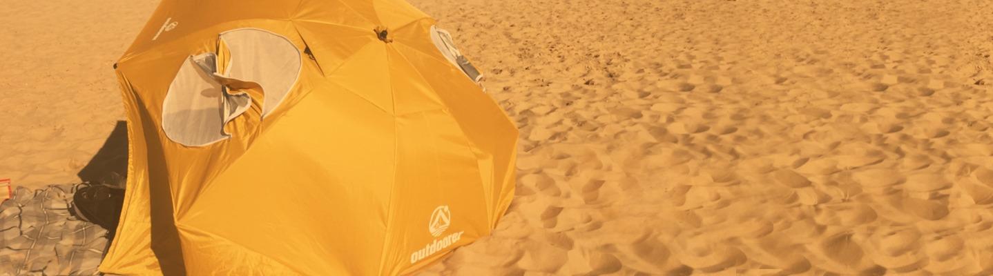 Strandschirm oder Strandmuschel – was eignet sich für uns?