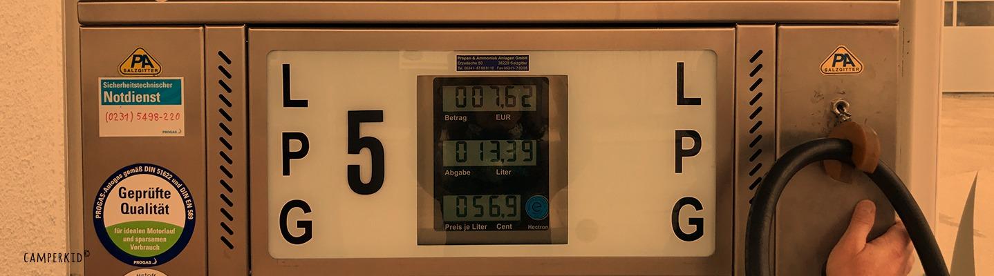 Autogas - Tankanzeige
